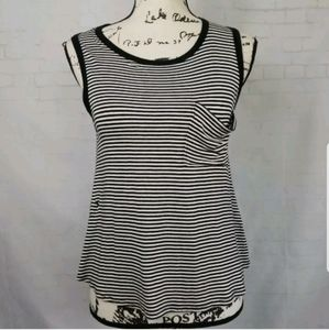 Carly Jeans Los Angeles Upcycle Tank Hi Low Size S